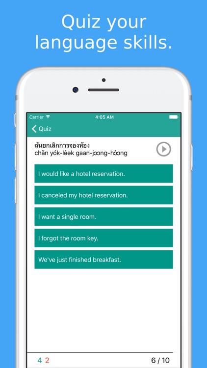 Simply Learn Thai Language - Speak Thai Phrasebook screenshot-3