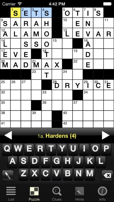 Crossword Light screenshot one