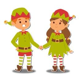 Santa Little Helper Cute Elfs at Christmas