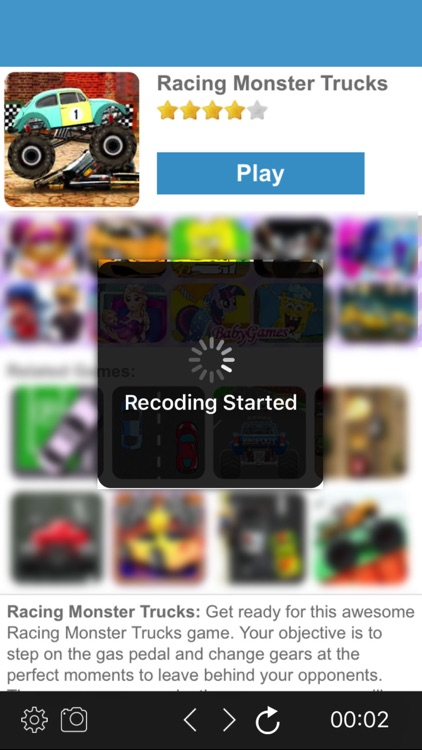 Weby - Web Browser for HTML5 Online Game Recorder