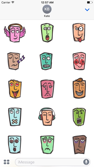 Abstract Face Stickers