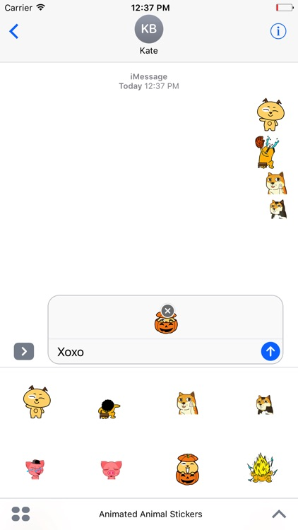 Animated Animal Stickers For iMessage
