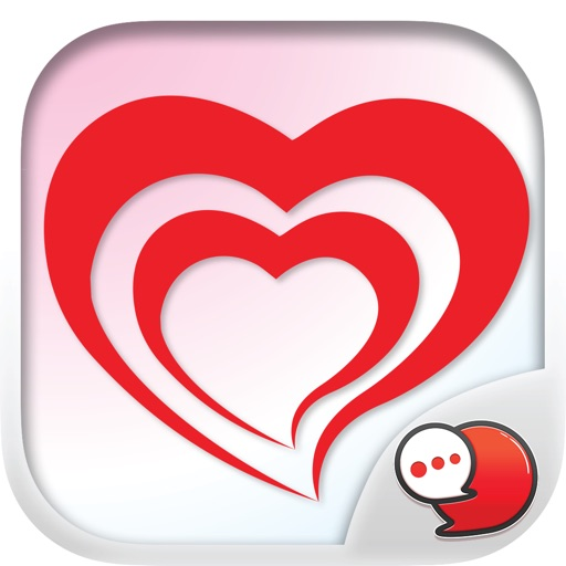 Red Heart Collection Sticker Keyboard By ChatStick