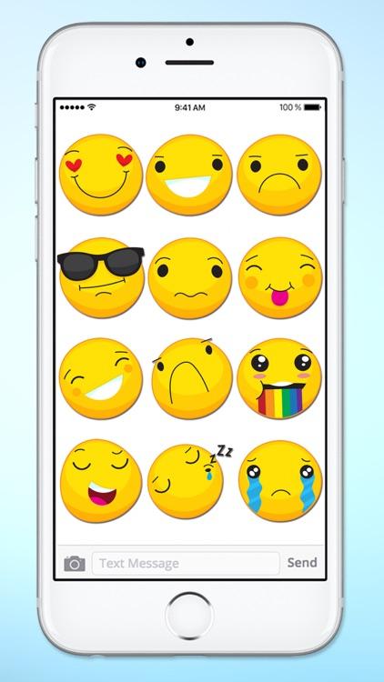 Cute Emoji Smile Emoticons Sticker Pack
