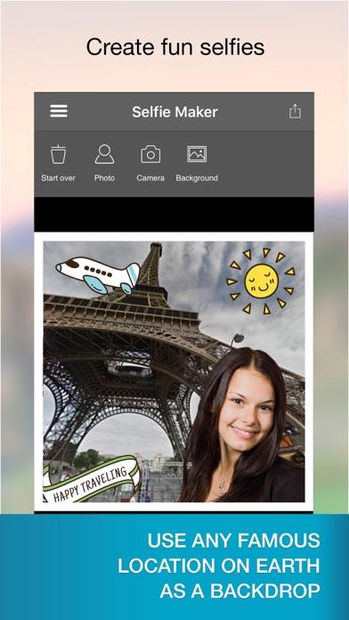 Selfie Maker - fake location with landmark photos Screenshot