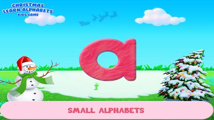 Christmas Learn Alphabets Kids Game screenshot-4