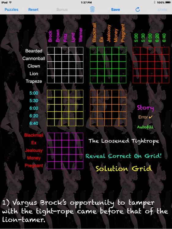 Sherlocks Logic Puzzles 4 screenshot-3