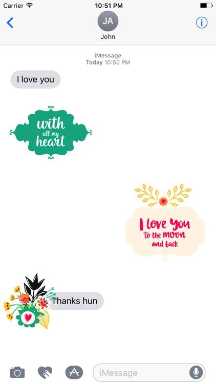 Love Romantic Sticker Pack screenshot-4