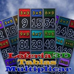 Loteria 3D Tablas De Multiplicar