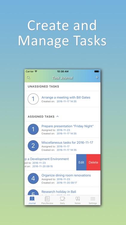 Productivity Journal: Pomodoro focus task planner
