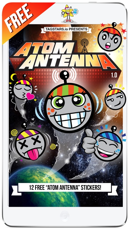 """Atom the Antenna 1.0"" by TagStars.io™"