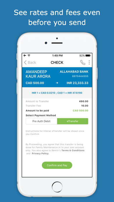 Remitr Money Transfer screenshot four