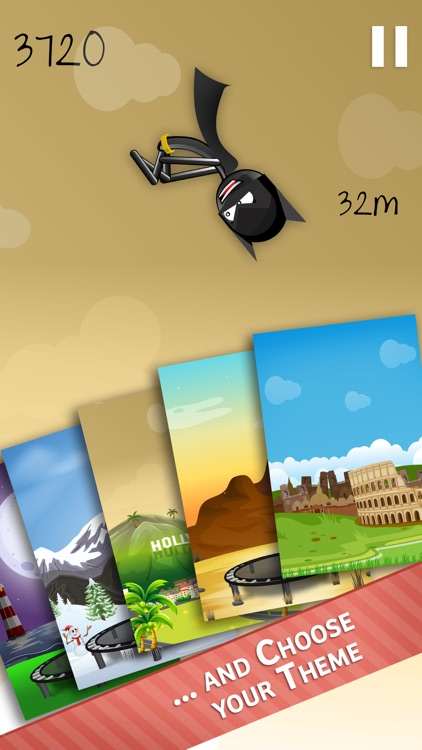 Stickman Trampoline PRO - Extreme Flip Action! screenshot-3