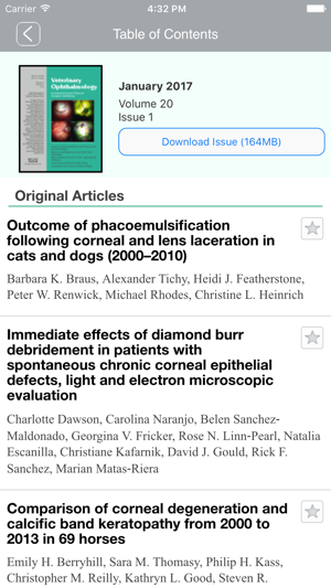 Veterinary Ophthalmology on the App Store
