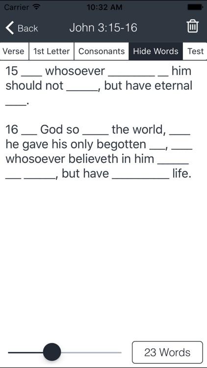 Bible Verse Memorization