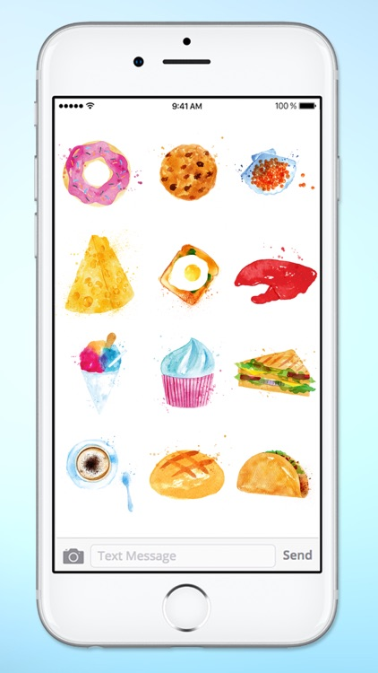 Whats For Dinner? Watercolor Food Sticker Pack