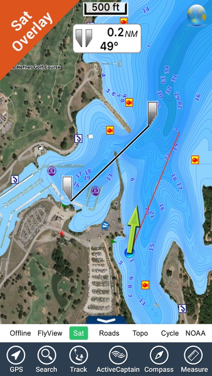 Oklahoma lakes - fishing Hd gps charts navigator