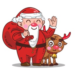 Santa Claus And Rudolph Emotion Stickers