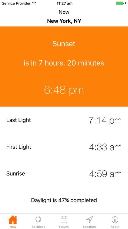Sunrise Sunset Times