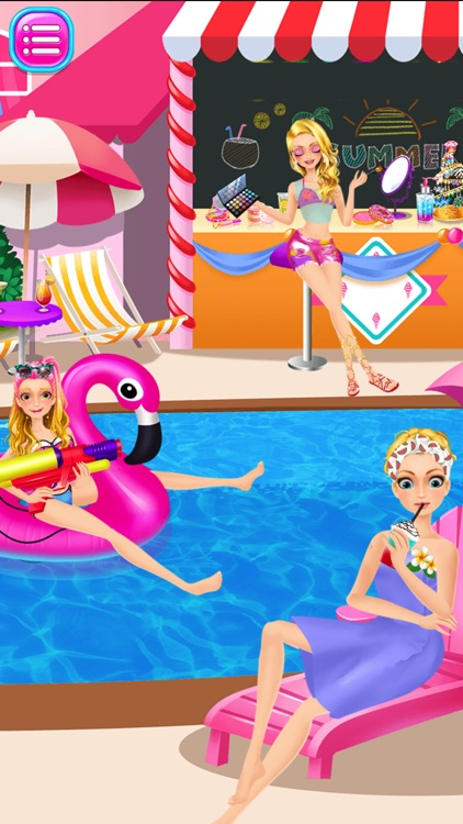 Dream Swimming Pool Costume Party ~ Pretty Girl