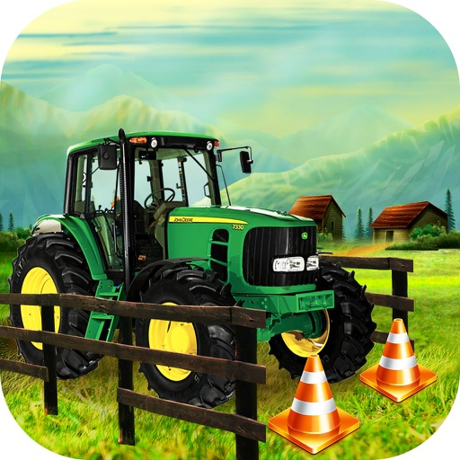 Farming Tractor Parking Driver