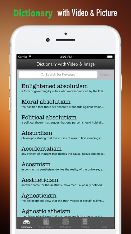 Philosophy Glossary-Study Guides and Terminology screenshot-3