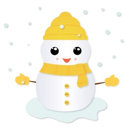 Little Snowman - Christmas Holiday Emoji