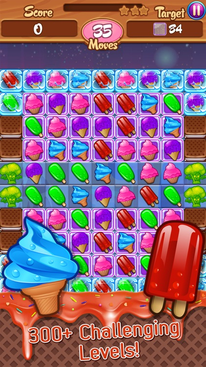 Ice Cream Frenzy: Free Match 3 Game