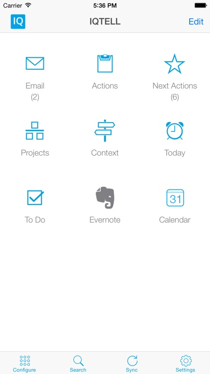 IQTell, Email + Task Management in One Place GTD®