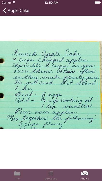 My Recipes List screenshot-3
