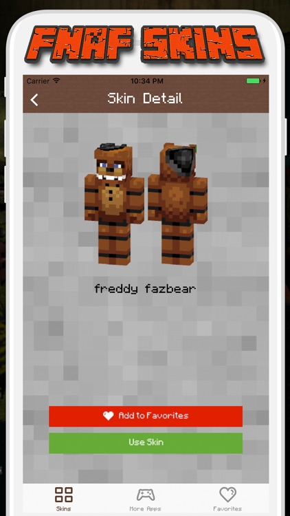 FNAF Skins for Minecraft PE - Pocket Edition