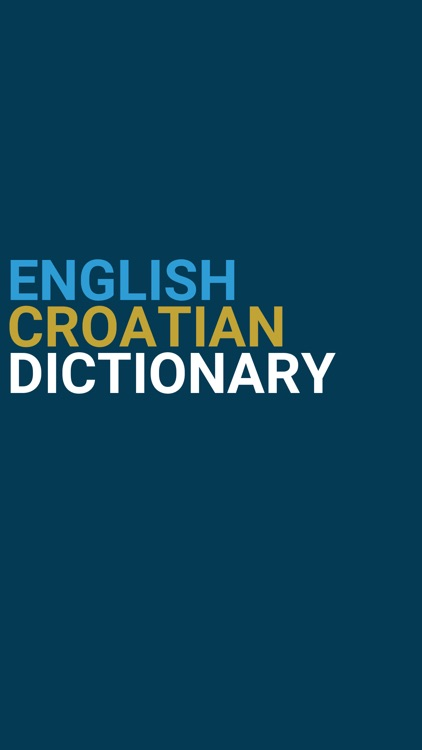 English : Croatian Dictionary