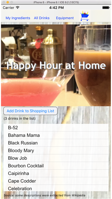 Happy Hour at Home screenshot two