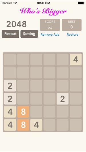 2048 5x5 6x6: Blocks Puzzle Screenshot