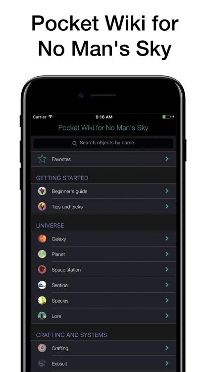 Pocket Wiki for No Man's Sky