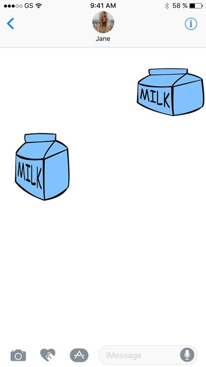 Happy Milk Sticker Pack