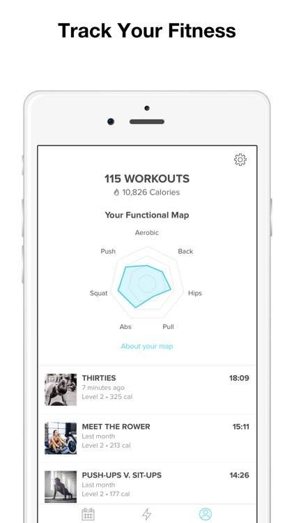 Keelo — High Intensity HIIT Workouts at Home & Gym app image