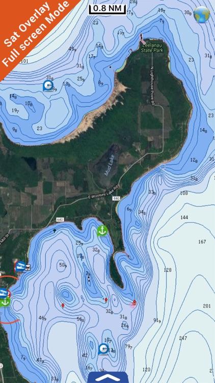 US Great Lakes GPS charts fishing map Navigator