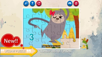Learn Number Animals Jigsaw Puzzle Game