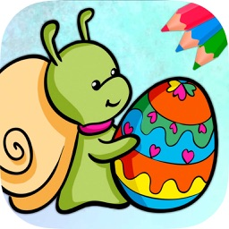 Easter eggs coloring pages for kids - Egg basket