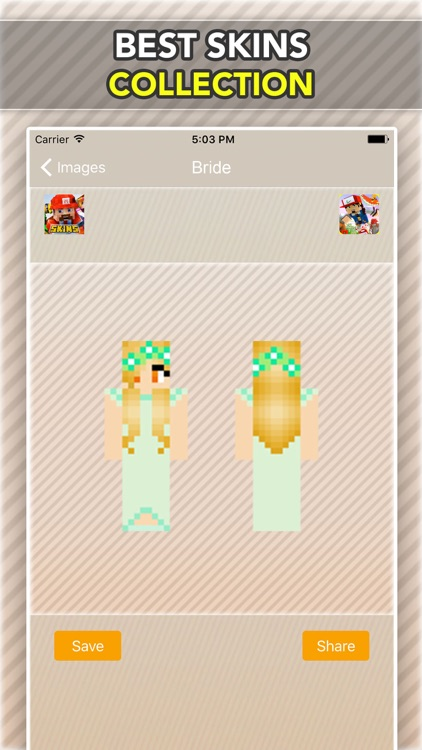 Wedding, Bride and Groom Skins For Minecraft PE screenshot-3