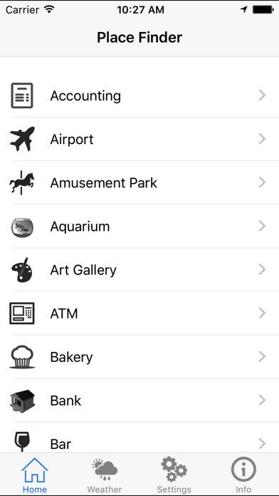 Quick Place Finder - A Near By Places Around Me screenshot one
