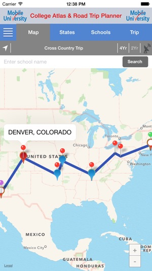 college atlas trip planner on the app store