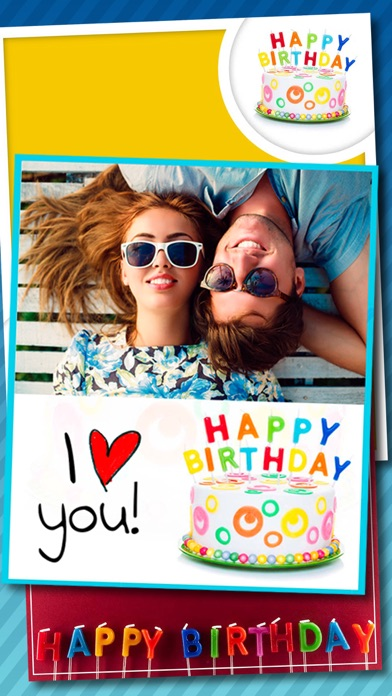 Birthday Greeting Cards Stickers Photo Editor App Mobile