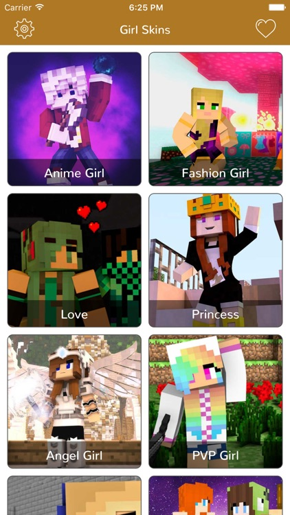 Girl Skins for Minecraft Pocket Edition-MCPE Skins screenshot-0