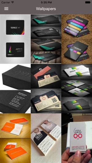 Business cards best design idea for business card on the app store screenshots colourmoves
