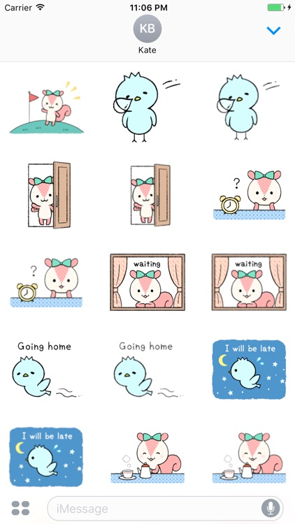 Chip And Pi Love Couple English Sticker screenshot-3