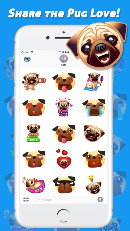 iPugMojis - Pug Emoji Keyboard screenshot-2