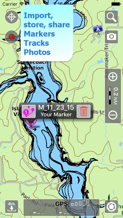 Aqua Map Illinois IL Lakes HD- GPS Nautical Charts screenshot-3