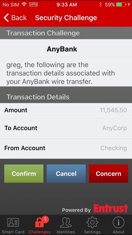 Entrust IG Mobile Smart Cred